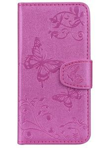 Cover Case For IPhone 6 6S with Mirror Premium PU Leather Mobile Shell Butterfly and Flower Pattern Protective Holster