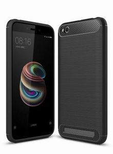 For Xiaomi Redmi 5A Case Cover Carbon Fiber Luxury Silicone Soft Texture Back Phone Cases