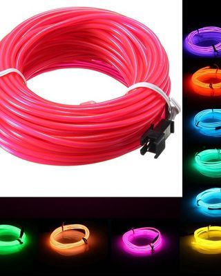 10M EL Led Flexible Soft Tube Wire Neon Glow Car Rope Strip Light Xmas Decor DC 12V