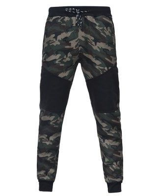 Camo Stitching Casual Sports Trousers