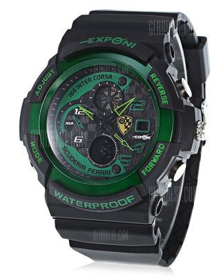 EXPONI 3250 Backlight Outdoor Sports Digital Quartz Watch