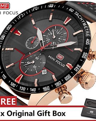 Top Luxury Brand Watch Fashion Sports Men Quartz Watches Waterproof Wristwatch For Male Red (1 Unit Per Customer)