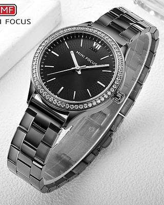 Top Luxury Brand Watch Famous Fashion Women Quartz Watches Wristwatch Gift For Female Black
