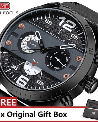 Top Luxury Brand Watch Famous Fashion Sports Cool Men Quartz Watches Waterproof Wristwatch For Male Black White