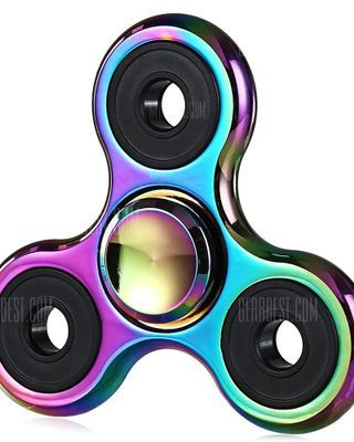 Zinc Alloy Tri-wing Rainbow Fidget Spinner Stress Relief Toy