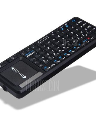 UKB-106 3-in-1 Ultra Mini Bluetooth QWERTY Keyboard Mouse with Touchpad Support Windows Mac Android iOS