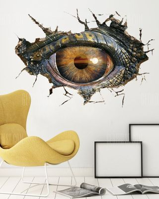 Dragon Eye Crack 3D Home Wall Decals