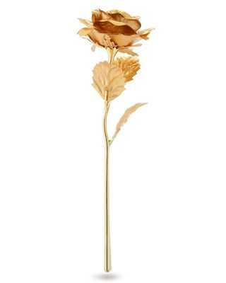 24K Gold Plated Rose Flower