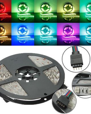5M RGB Non-Waterproof 300 LED SMD 5050 LED Strip Light DC 12V