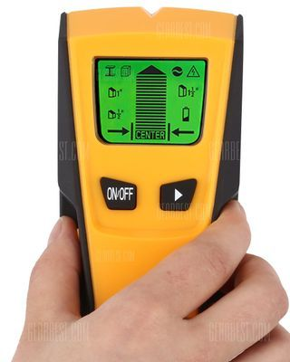 FLOUREON TH-210 Stud Center Finder Metal AC Live Wire Detector