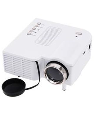 UC28+ 1080P HD 400LM 16770K LED LCD Projector with HDMI VGA Slots