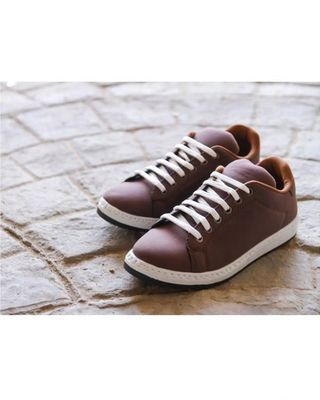 Canvas Lace Up Sneakers - Brown