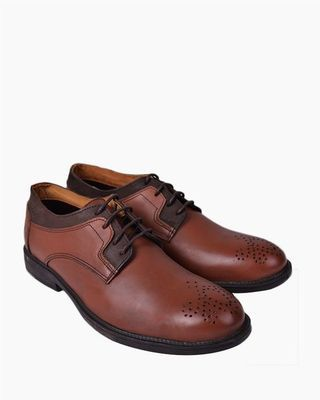 Casual Oxford Leather Shoes - Coffee